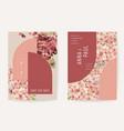 floral wedding invitation botanical card boho vector image vector image