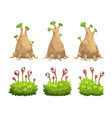 funny cartoon fantasy trees and bushes set vector image vector image