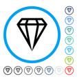 gem rounded icon vector image vector image
