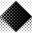geometrical dot pattern background - monochrome vector image vector image
