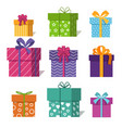 gifts or presents boxes icons for valentine xmas vector image vector image