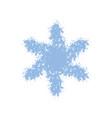 grainy grunge snowflake vector image vector image