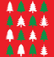 green and white christmas trees vector image
