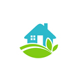 green house realty ecology logo vector image vector image