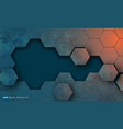 grunge texture with hexagons segments vector image vector image