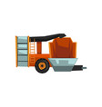harvester machine agricultural machinery vector image vector image