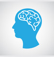 head with brain vector image
