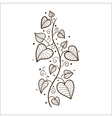 Heart leaves border vector image vector image
