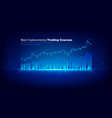 holographic graphs and stock market statistics vector image