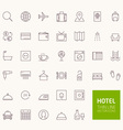 Hotel Booking Outline Icons for web and mobile app vector image vector image