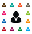 isolated businessman icon human element vector image vector image