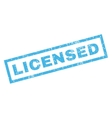 Licensed Rubber Stamp vector image vector image