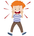 Little boy shouting alone vector image vector image