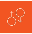 Male and female symbol line icon vector image vector image