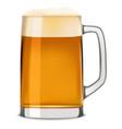 mug of beer mockup realistic style vector image