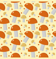 mushrooms seamless pattern boletus edulis endless vector image