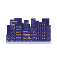 night city buildings town vector image