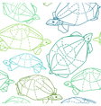 Origami turtles drawing vector image