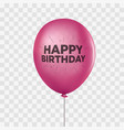 pink realistic helium balloon isolated on vector image