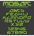 Pixel Mosaic Font vector image vector image