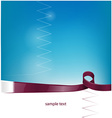 qatar ribbon flag on background vector image vector image