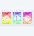 rainbow summer flyer set in geometric 80th memphis vector image vector image