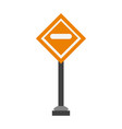 roadsign symbol isolated vector image vector image