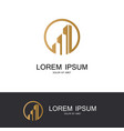 round building business logo vector image vector image