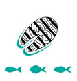 seafood icon or logo vector image