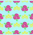 seamless pattern crown and flowers vector image