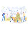 senior people celebrate christmas in nursing house vector image vector image