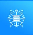 server hosting data storage icon vector image vector image