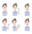 set man expressions vector image