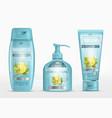 shampoo packaging cream tube soap bottle vector image vector image