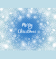 snowflakes on blue transparent background merry vector image vector image
