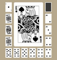 spades suit playing cards vector image vector image