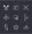 sports and games line icons set vector image vector image