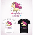sweet pony princess little cute cartoon horse vector image vector image