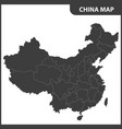 the detailed map of the china with regions vector image vector image