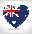 the flag of australia with union jack and stars vector image vector image