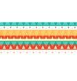 Vibrant ikat stripes horizontal seamless pattern vector image vector image
