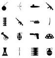 war icon set vector image