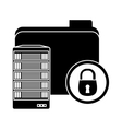 web hosting related file lock vector image
