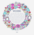 wedding invitation concept in circle vector image