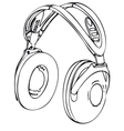 wireless headphone vector image vector image