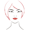 women face with red hair vector image vector image