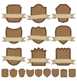 wooden emblems vector image vector image