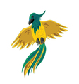 yellow-green parrot vector image vector image