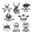 set of hunt club labels Monochrome badges vector image