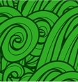 background with abstract green waves Seamless vector image